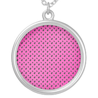 Pink watermelon seeds necklaces