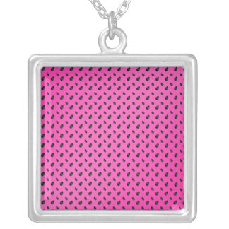 Pink watermelon seeds custom necklace