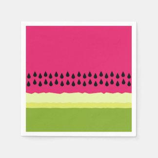 Pink Watermelon Slice Cocktail Paper Napkins