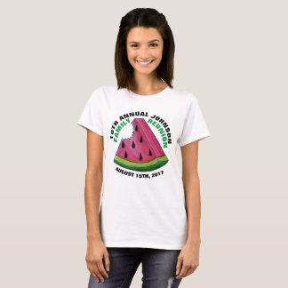 Pink Watermelon Slice Custom Family Reunion Picnic T-Shirt