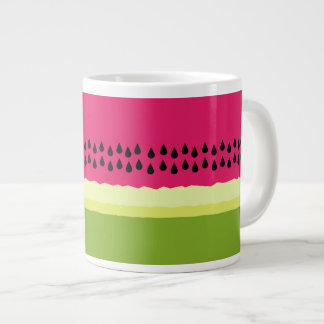 Pink Watermelon Slice Jumbo Mug 20 Oz Large Ceramic Coffee Mug