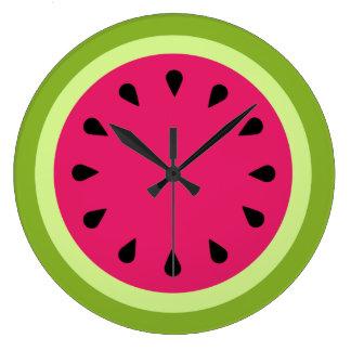 Pink Watermelon Slice Wall Clock