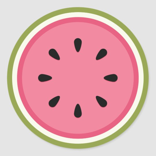 Pink watermelon sticker