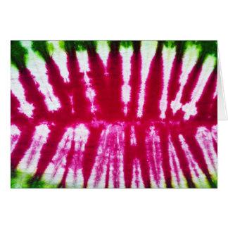 Pink watermelon tie-dye card