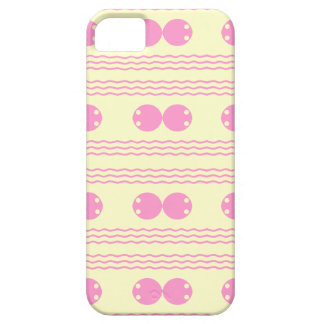 Pink Wave and polka dots design Case