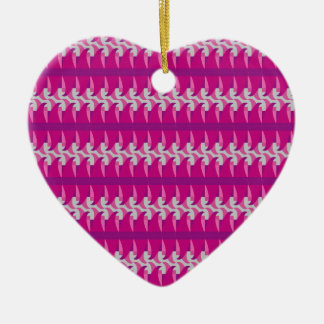 Pink Wave Ceramic Ornament