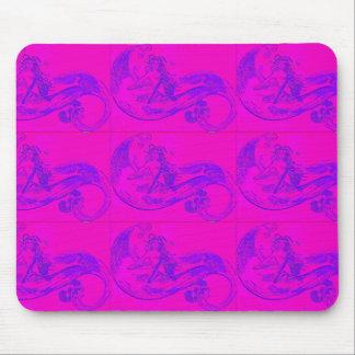 pink wave mermaids mousepad