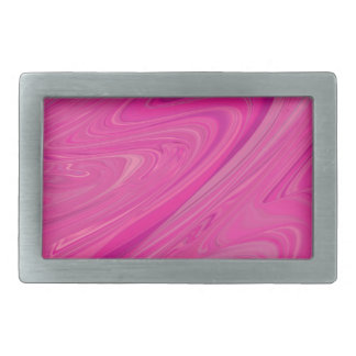 Pink Wave Water Abstract Design Pattern Belt Buckle
