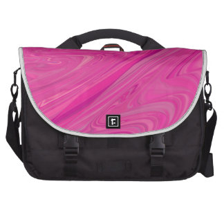 Pink Wave Water Abstract Design Pattern Laptop Computer Bag
