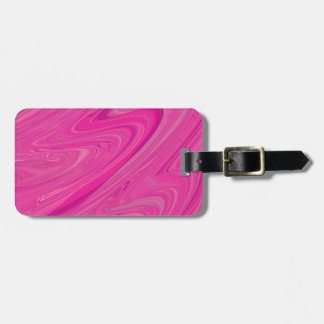 Pink Wave Water Abstract Design Pattern Travel Bag Tag