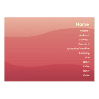 Pink Waves - Chubby Large Business Cards (Pack Of 100)