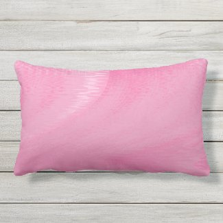 Pink Waves Outdoor Lumbar Pillow