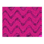 pink waves post cards