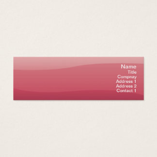 Pink Waves - Skinny Mini Business Card