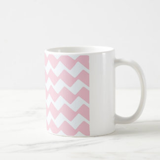 Pink Wavy Chevron Stripes Coffee Mug