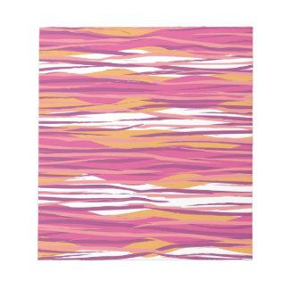 Pink Wavy Stripes Notepad