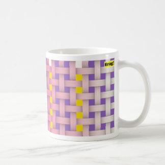 pink weave mug