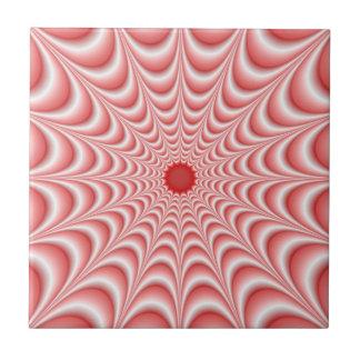 Pink Web tile