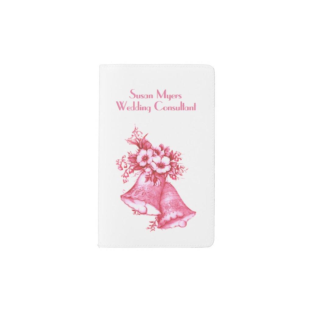 Pink Wedding Bells Pocket Moleskine Notebook