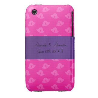 Pink wedding bells wedding favors iPhone 3 cases
