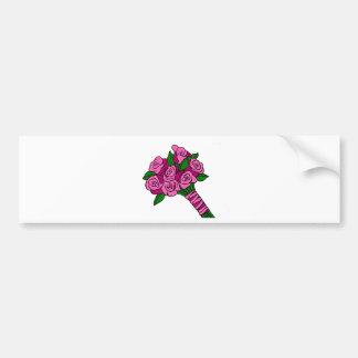 Pink Wedding Bouquet Bumper Sticker