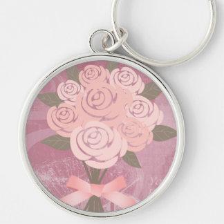 Pink Wedding Bouquet  Keychain