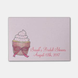 Pink Wedding Bridal Shower Cupcake Cake Post Its Post-it Notes