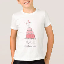 Pink Wedding Cake Fun Custom Your Own T-shirt