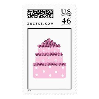 Pink Wedding Cake Postage
