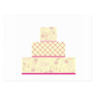 Pink Wedding Cake Post Card