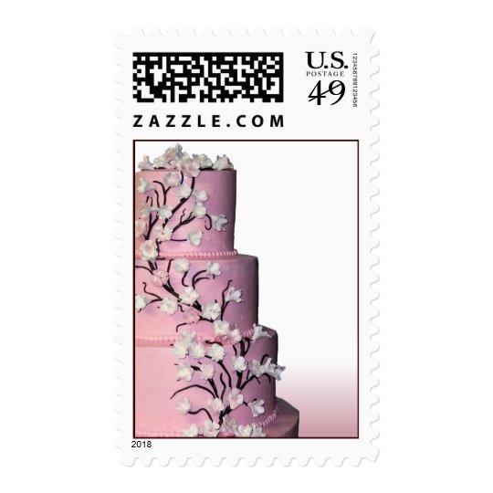 Pink Wedding Cake Stamps