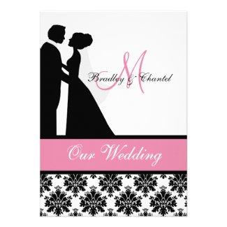 Pink Wedding Couple Wedding Invitation