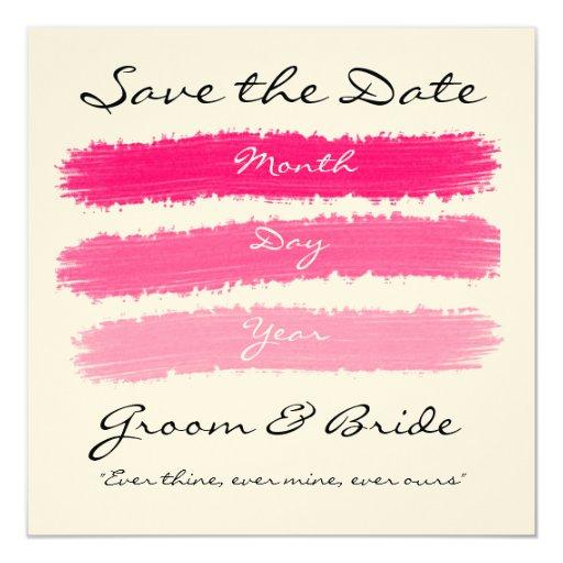 Pink wedding custom invites