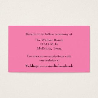 Pink Wedding Enclosure Card