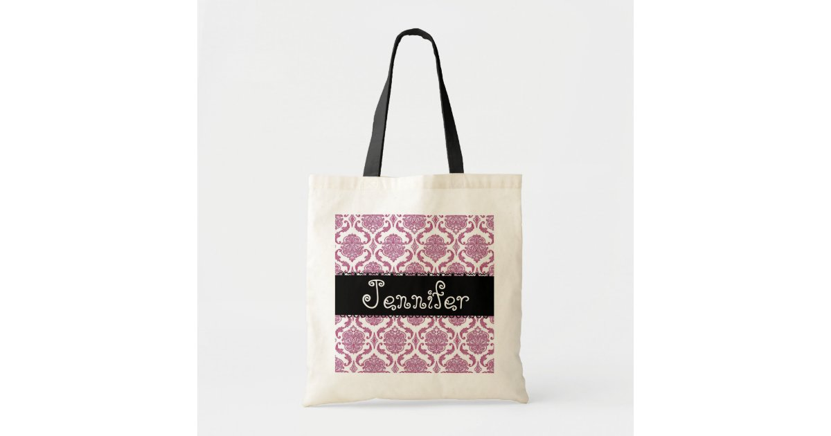 Zazzle Wedding Gift Bags : PINK Wedding Favor Damask Bag for Bridesmaid Zazzle