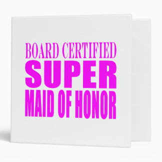 Pink Wedding Favors : Super Maid of Honor 3 Ring Binder
