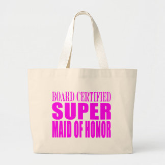 Pink Wedding Favors : Super Maid of Honor Tote Bags