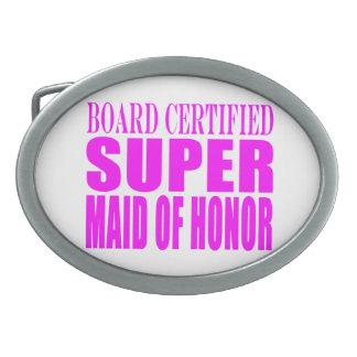 Pink Wedding Favors : Super Maid of Honor Belt Buckles