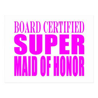 Pink Wedding Favors : Super Maid of Honor Postcard