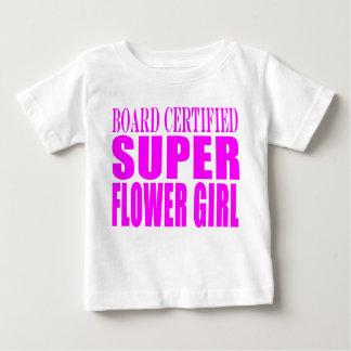 Pink Wedding Favors & Thanks : Super Flower Girl Baby T-Shirt