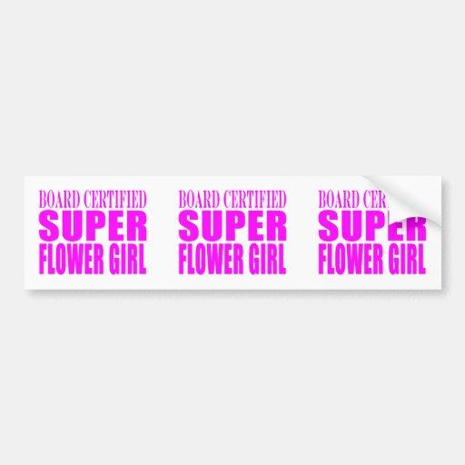 Pink Wedding Favors & Thanks : Super Flower Girl Car Bumper Sticker