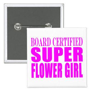 Pink Wedding Favors & Thanks : Super Flower Girl Buttons