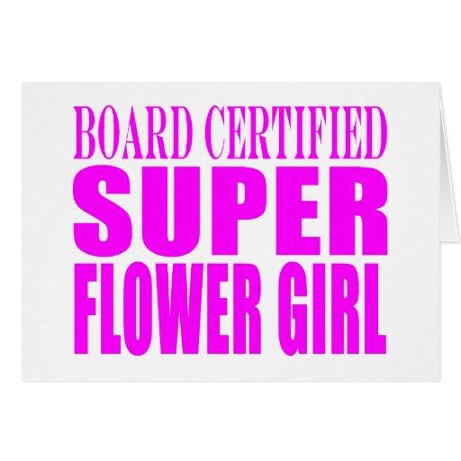 Pink Wedding Favors & Thanks : Super Flower Girl Card