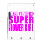 Pink Wedding Favors & Thanks : Super Flower Girl Dry Erase Board With Keychain Holder