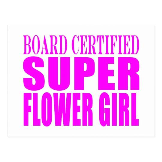 Pink Wedding Favors & Thanks : Super Flower Girl Postcard
