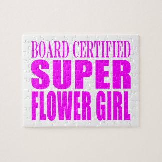 Pink Wedding Favors & Thanks : Super Flower Girl Puzzle