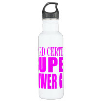 Pink Wedding Favors & Thanks : Super Flower Girl Water Bottle