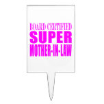 Pink Wedding Favors & Thanks : Super Mother in Law Rectangle Cake Toppers