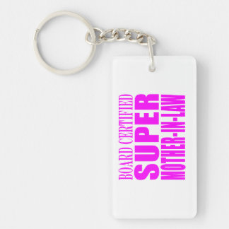 Pink Wedding Favors & Thanks : Super Mother in Law Rectangle Acrylic Keychains