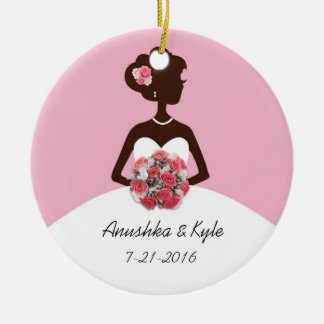 Pink Wedding Gown Bridesmaid Ornament